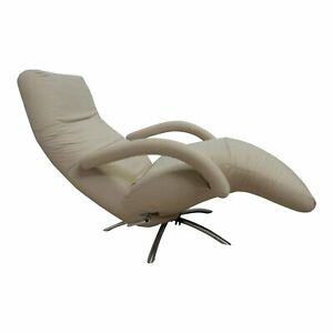 Vintage Ligne Roset Chrome Spider Base Recliner/Lounge Chair Mid Century Modern