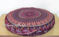 "35X6"" Round Large Floor Cushion Covers Colorful Floral Mandala Pillowcase Throw"