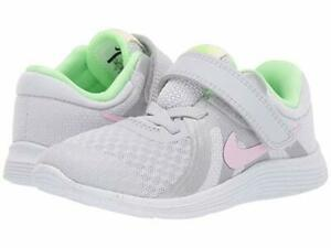Nike  Non-Tie Sneakers Pure Platinum/Pink Foam Little Girls Size 7