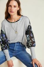Anthropologie New Raye Printed Top By Tiny Size XL NWT