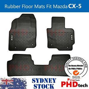 Tailor Made custom-made rubber car floor mats for Mazda CX-5 2012 -2017 WHITE