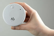 2 x Mini Photoelectric Smoke Detector Audible & Visual Alarm Small Room Alarm