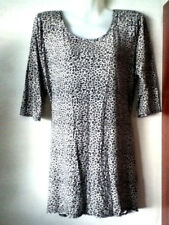 BNWOT**DEBENHAMS**LOVELY LADIES ANIMAL PRINT LONG LINE TUNIC-TOP