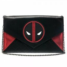 Deadpool Movie Marvel Comics Envelope Wallet Purse with Chain Clutch Licensed