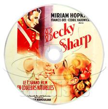 Becky Sharp (1935) Drama, Romance, War Movie / Film on DVD