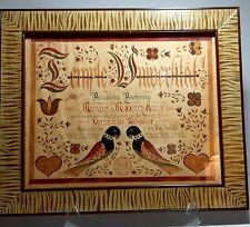 "Modern Pennsylvania Folk Art Fraktur schriften - Jere Dickerson 19x16"""