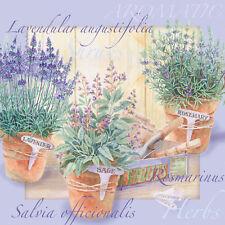Servietten 20,  Serviettentechnik Lavendular Lavendel Provence Ambiente 33 x 33