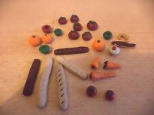HAND MADE DOLLS HOUSE FURNITURE MINIATURE FOOD KITCHEN grocery fruit bread a