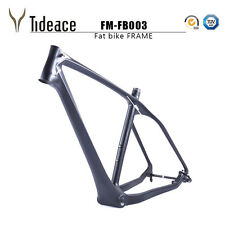 Toray T800 Carbon Fiber Fat Bicycle Frame BSA 26er Carbon Snow Bike Frames OEM