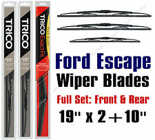 2001-2003 Ford Escape Wiper Blades 3pk Front + Rear Wipers - 30190x2+10-1