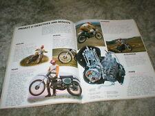 1973 HONDA ELSINORE CR-250M Cycle Brochure  4 pg Original with Specs