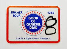 Grateful Dead Backstage Pass Good Ol' Chicago Illinois Poplar Creek IL 6/28/1983
