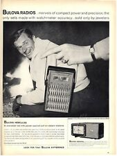 1958 BULOVA Radios  two models Small Transistor and Imperial table top PRINT AD