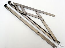 """16"""" 400mm Top Hung 13mm Window stainless steel Friction Hinges stay upvc pvc"""
