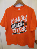 San Francisco Giants Baseball Team Orange & Black Attack SF Champions T Shirt XL