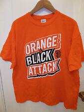 San Francisco Giants Baseball Team Orange & Black Attack SF Champions T Shirt XL