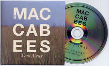 THE MACCABEES Went Away 2012 UK 2-trk promo CD inc instrumental