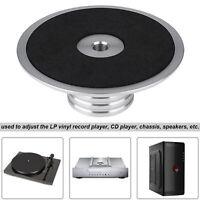 Record Weight Clamp LP Vinyl Plattenspieler Metall Disc Stabilizer Silber x 1