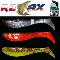 "relax kopyto 2,5""( 6,5cm)packof3 shads.soft plastic lures perch,pike,zander,bass"