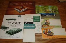 Original 1953 Chrysler Full Line Sales Brochure Lot of 7 53 New Yorker Windsor