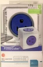 Usb Wall Plug, Allocacoc PowerCube |Original|, 4 Outlets and 2 Usb Ports, Cell