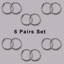 6 Pairs Set Super Small Mini Hoop Earrings Sterling Silver 925 USA Seller