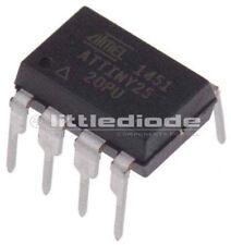 Microchip Technology ATTINY25-20PU 8bit AVR Microcontroller 20MHz 2 kB