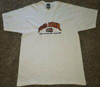 Vintage NFL Super Bowl XXXIII Orange T Shirt Mens L Embroidered Pro Player 90s
