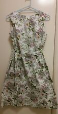 NEW Floral wrap dress with tie waist belt, size 12