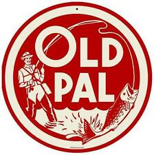 Vintage Retro Old Pal Bass Fishing Tacklebox Metal Sign Unique Wall Decor RPC073