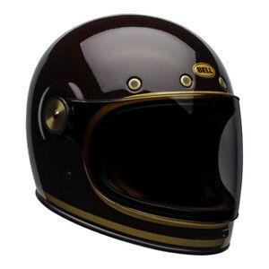 Bell Cruiser Bullitt Voll Carbon Transend Rot/Goldclassic Motorrad Helm