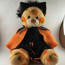 Build A Bear Orange PUMPKIN PAL Halloween Plush Teddy BEAR Rare Discontinued!