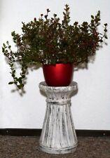 Blumensäule Holz Blumenständer mediterraner Stil Blumentisch BLST04