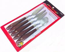 5PC ARTIST PALETTE KNIVES, PAINTING,SPATULAS, OIL, ACRYLIC,KNIFE  FREEPOST!