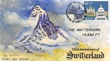 2532 50c Usa & Switzerland Mueller hand painted cachet [16634]