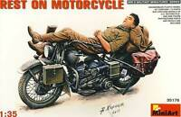 MiniArt Rest on Motorcycle US Motorrad Pause U.S.Army WWI Modell - 1:35 NEU kit