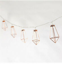 Rose Gold Diamond Water Drop LED Battery Color Lamp String Decorative Lights