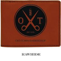 Personalized Engraved Leather Wallet Rawhide Men's Custom Groomsmen Gift for him