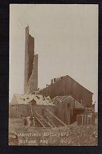Mansfield - Tomlinson's Brickyard struck by lightning 1909 - RP postcard