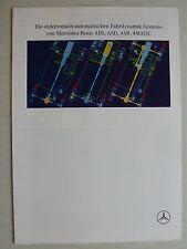 Prospekt Mercedes - ABS ASD ASR 4MATIC, 2.1991, 10 Seiten