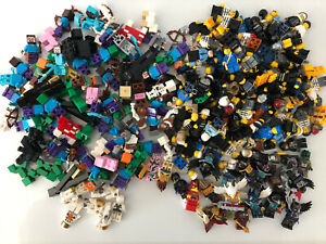 Lego Minifigures Bulk 2 Pounds Lot Minecraft City Chima Space Minifigs Two lbs