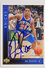 Doc Rivers NY Knicks Autographed 1993 Upper Deck #36 Signed Card 16M