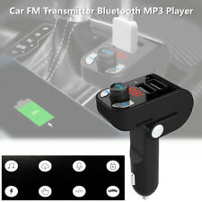 Car FM Transmitter MP3 Player Wireless Handsfree Bluetooth Phone Charger TF Card