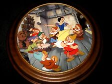 Snow White 7 Dwarfs ~ Collectible Plate W/ Frame By Knowles