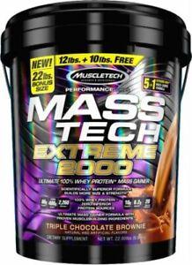 MuscleTech Mass-Tech Extreme 2000 - Triple Chocolate Brownie - 22 Lbs