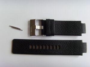 DIESEL Original Ersatzband Lederarmband DZ1089 DZ1091 Uhrband schwarz strap