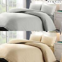 Leopold 100% Egyptian Cotton Sateen Satin Non Iron Quilt Duvet Cover Bedding Set
