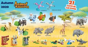 Picka Kinder Toy! Animal Adventures Africa giraffe monkey elephant hippo shark