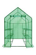 Ogrow Deluxe WALK-IN 2 Tier 8 Shelf Portable Lawn and Garden Greenhouse - Hea...
