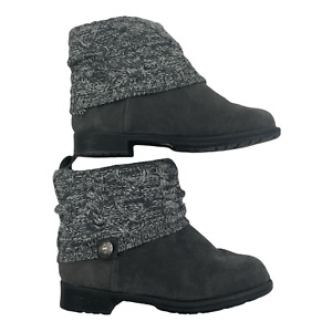 MUK LUKS women's Patrice Fashion Ankle Boots Suede Upper Gray Size 8